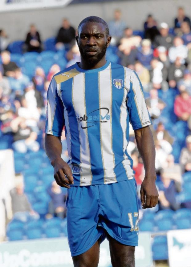 Gazette: Looking for goals - Jabo Ibehre is keen to get his shooting boots back on against Walsall tomorrow.
