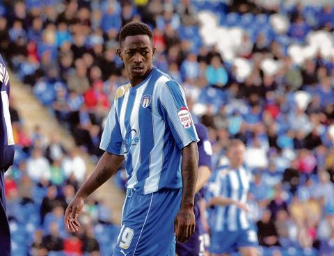 Precaution - Colchester United forward Sanchez Watt was taken off against Maldon and Tiptree after picking up a knock.