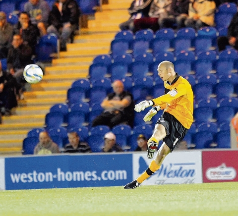 Narrow defeat - U's keeper Mark Cousins made several good saves in their 1-0 defeat at Bournemouth.