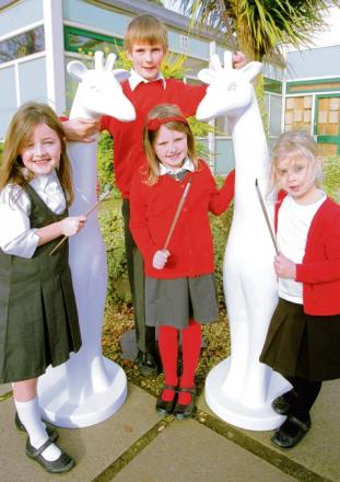 Primary school kids get involved in Stand Tall scheme