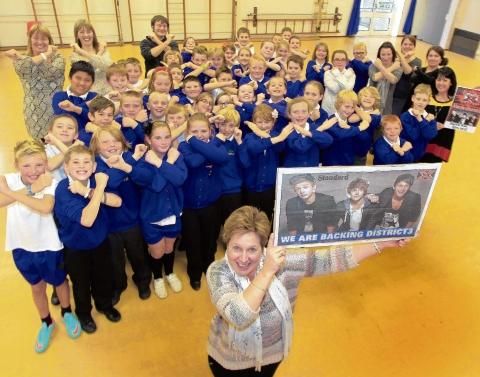 Chase Lane Primary School, Dovercourt, backs former pupil Greg West for the X Factor