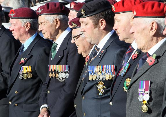 Lest we Forget: Veterans in Colchester town centre
