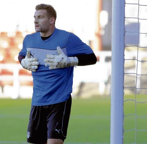 Open to offers - goalkeeper John Sullivan said he would welcome a return to Colchester United in the future, should the opportunity arise. Picture: WARREN PAGE