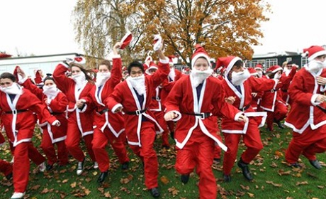 Prefect Santas launch hospital fun run
