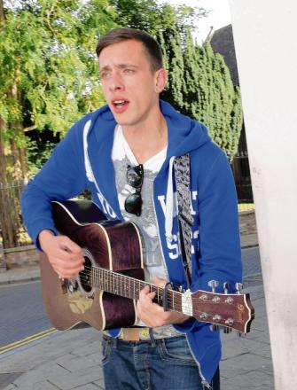 Busker Joely hoping to hit the big time