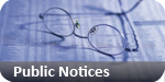 Gazette: public notices classified