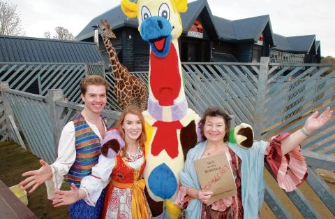 Panto cast visit Colchester Zoo to launch 50th anniversary celebrations