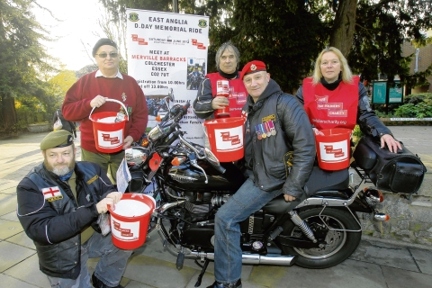 Bikers raise £300 for military ch