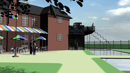 Artist's impression: What the Roman Circus visitor centre could look like. By Roger Massey-Ryan