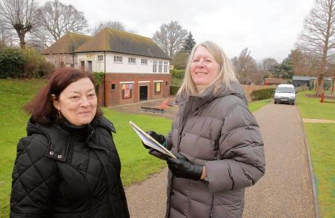 Anne Turrell and Annie Feltham hope to attract leisure companies to land in north Colchester