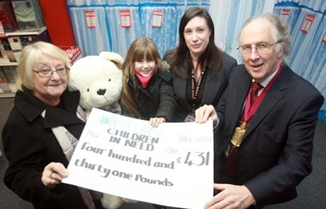 Billy the bear helps needy youngsters