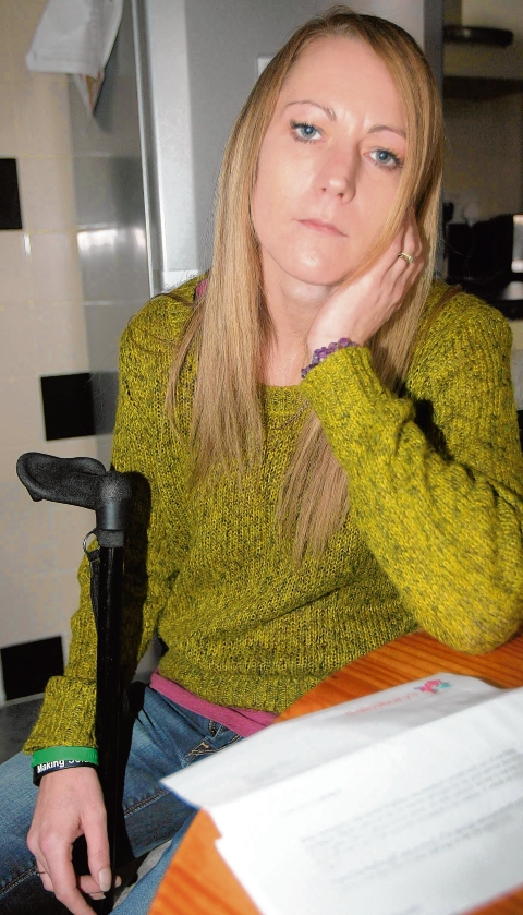 Lisa Scrimshaw, 34, has progressive MS, and was not allowed to use a toilet by Sainsbury's staff