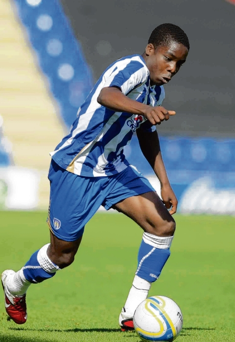 Bright young thing - Tosin Olufemi was on the bench for Colchester United's game at Bournemouth, last Saturday.