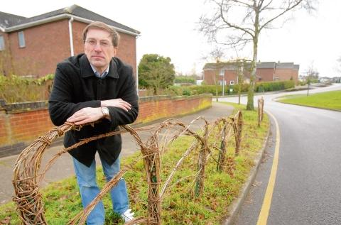 Paul Smith has spoken out against county council bosses' decision to rip out children's wicker fences