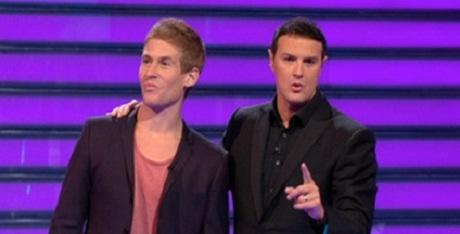 Sam, with presenter Paddy Mcguinness, on ITVs Take Me Out