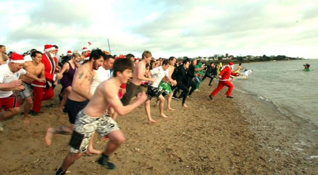 Gazette: Boxing Day swimmers in Mersea