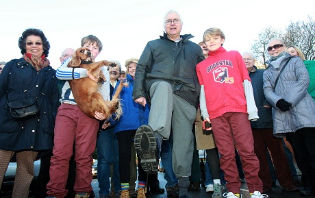 About 40 people turned out for Colchester MP Sir Bob Russell's New Year's Day Walk.