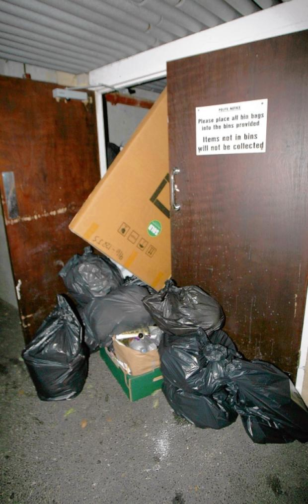 Rubbish 'went uncollected for four weeks'