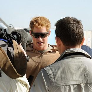 Harry, speaking in Afghanistan on active dutywill be replaced as the third-in-line to the throne when the royal baby is born in July this year