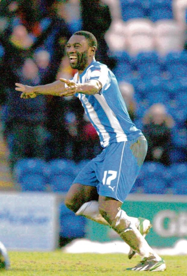 Brilliant brace - Jabo Ibehre scored twice in the U's 2-0 win at Stevenage.