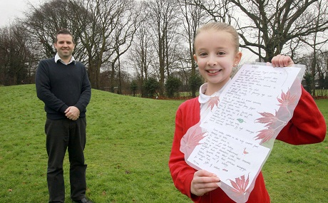 11-year-old winner Ella, who goes to Roach Vale Primary School, was one of thousands of pupils around the country who entered the poetry competition, run by the National Gamekeepers Organisation Educational Trust.