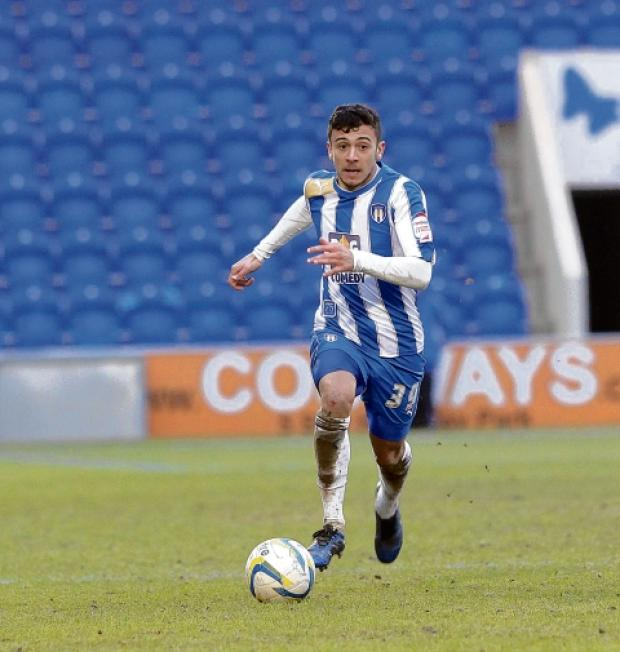 Wing man - George Porter has been in good form for Colchester United over recent games. Picture: STEVE ARGENT (CO74608-10)