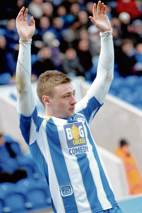 On target - Freddie Sears scored an early goal for Colchester against Walsall.
