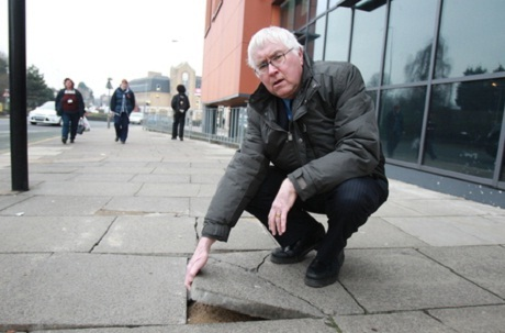 "Campaign to force repairs at cracked and ""dangerous"" paving"