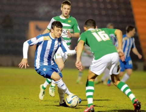 Welcome win - George Porter helped Colchester United registered a vital 2-0 victory over Yeovil Town. Picture: NIGEL BROWN