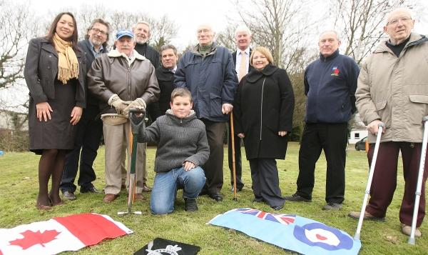 Memorial to aircrew is finally unveiled... 69 years after crash