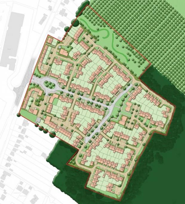 Developer Lands Improvement wants to build more than 200 homes on the site of the former Betts factory site, in Ipswich Road.
