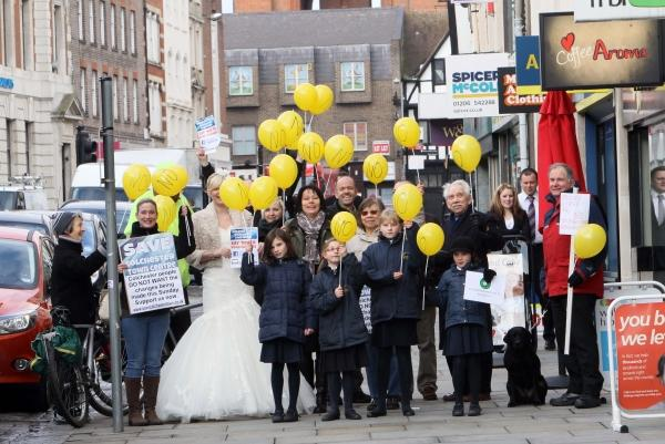 Town Hall protesters urge councils to scrap High Street car ban