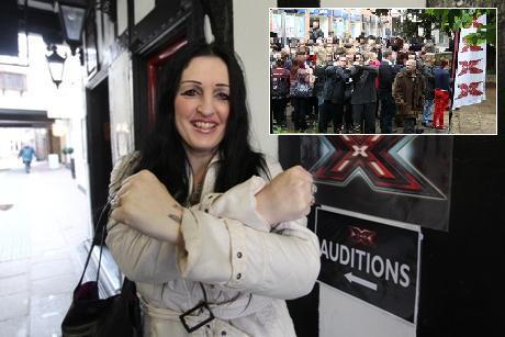 Cher Townrow was the only X Factor auditionee in the first hour, compared to last yea