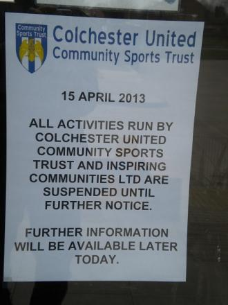 Colchester United Community Sports Trust mystery closure