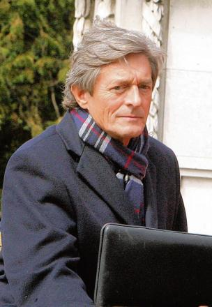 Nigel Havers outside Colchester's Castle Park.