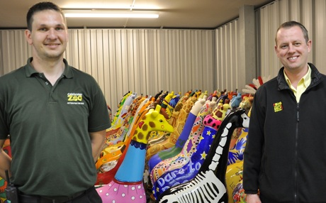 Chris Grimnett, from Colchester Zoo, and Adrian Eves, from Big Yellow Storage