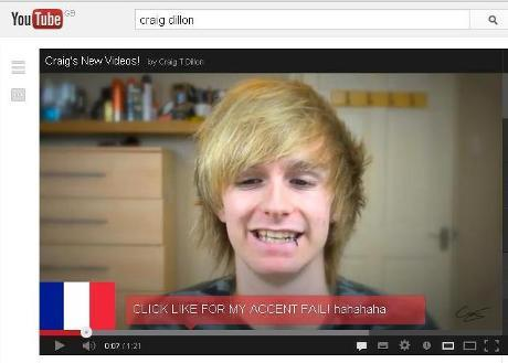 Gazette: Craig Dillon's Youtube accent challenge