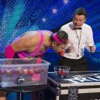 David Walliams bobs for apples on Britain's Got More Talent