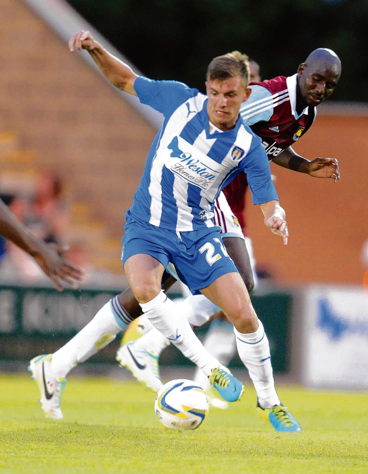 Good experience - Alex Gilbey made another senior start for Colchester United in their 2-0 defeat against Coventry City.
