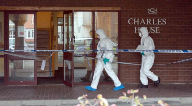 Murder scene: Flats in Parkside Quarter, Colchester where Thomas Brittain was killed