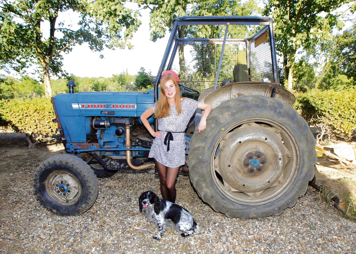 Gamekeeper's daughter – Jessica Noy at the farm in East Bergholt