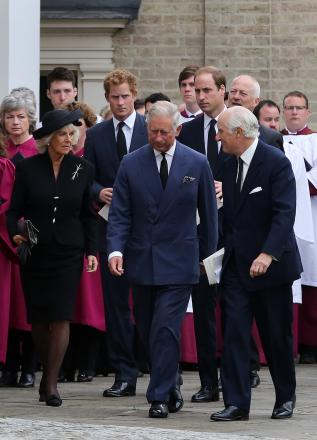 Royal family arrive in south Essex for friend's funeral