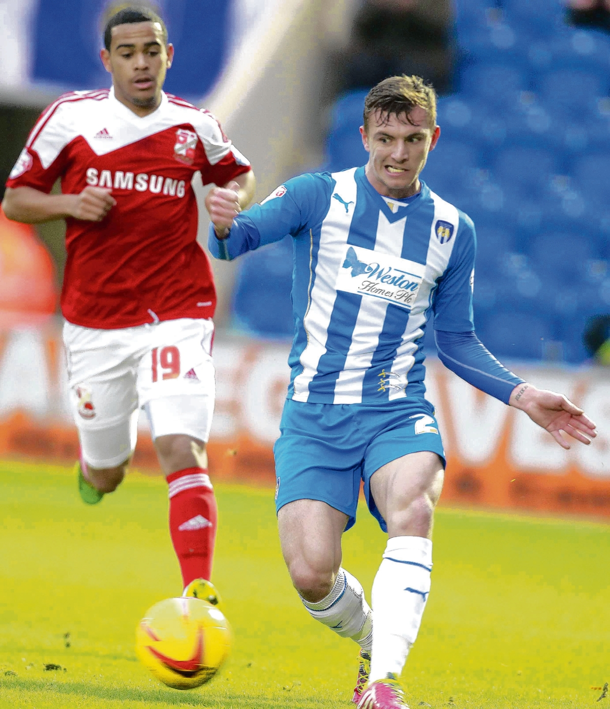 Staying put - Alex Gilbey has signed a new contract with Colchester United until the summer of 2016.
