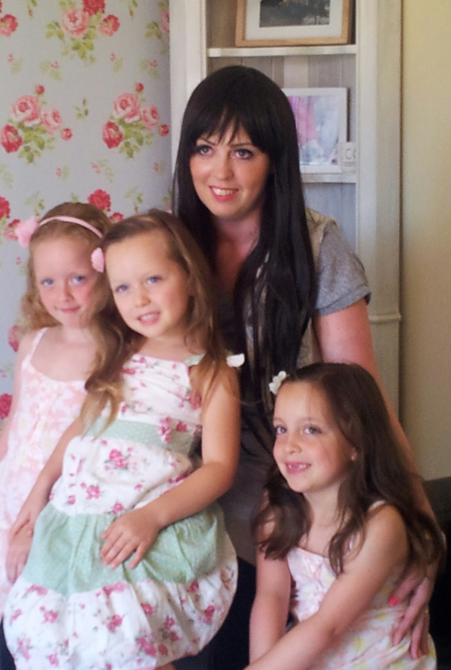 Survivor – Becky Felton with daughters Abigail, Ella and Poppy