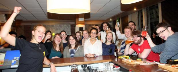 Gazette: All smiles at Essex University's Top Bar