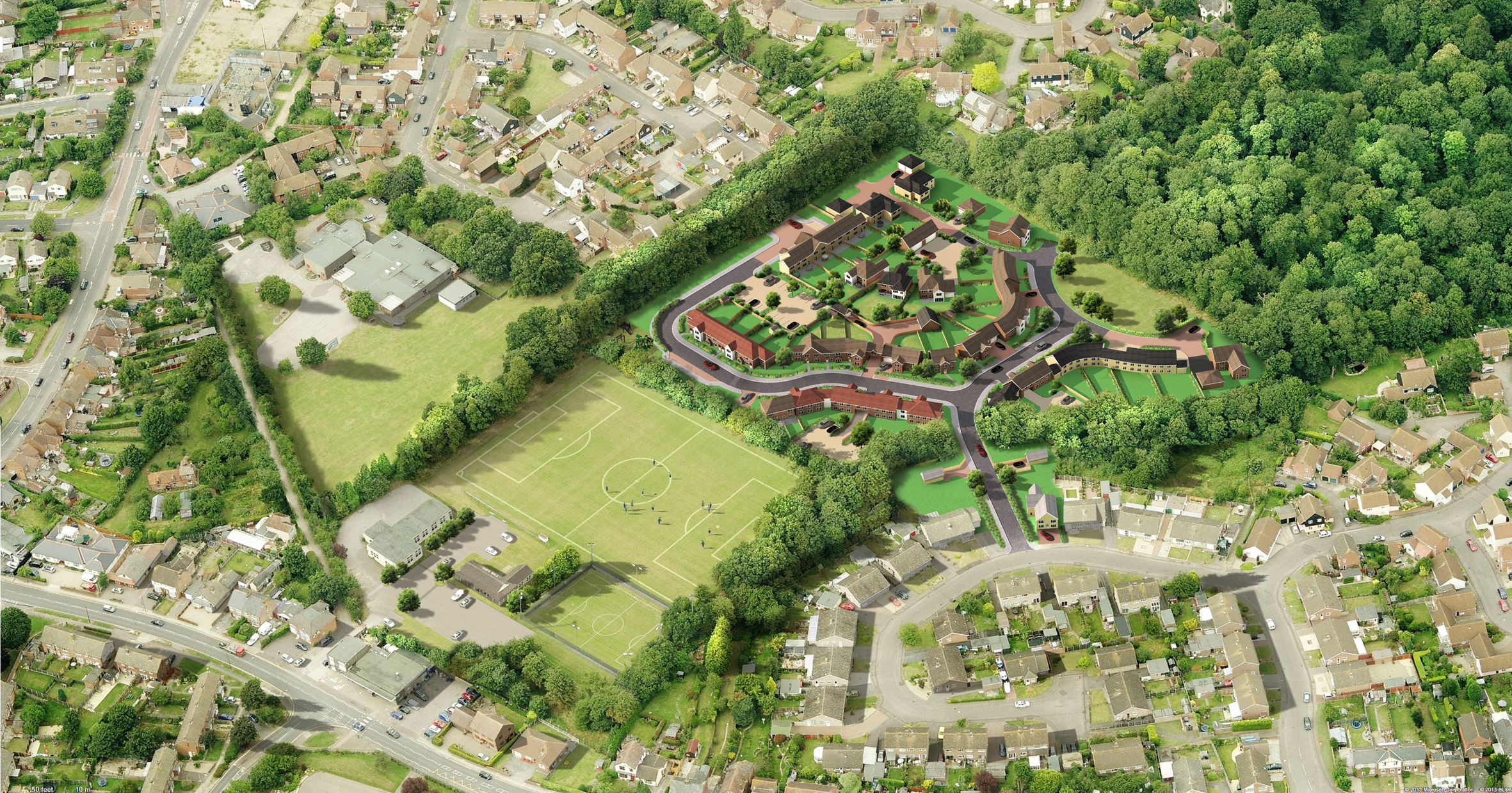Controversial football pitch homes plans thrown out by planners