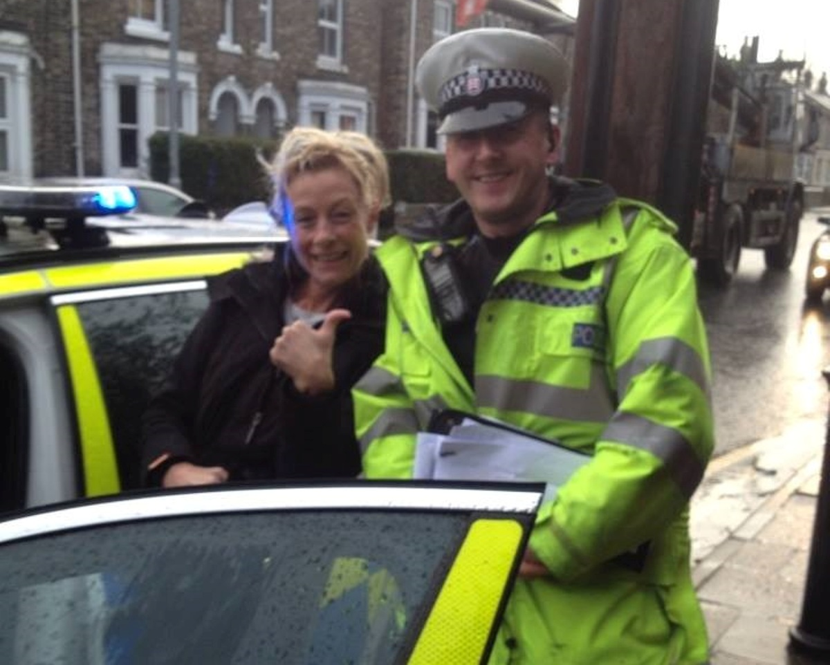 PC Mark Hercules with Debbie Pugh