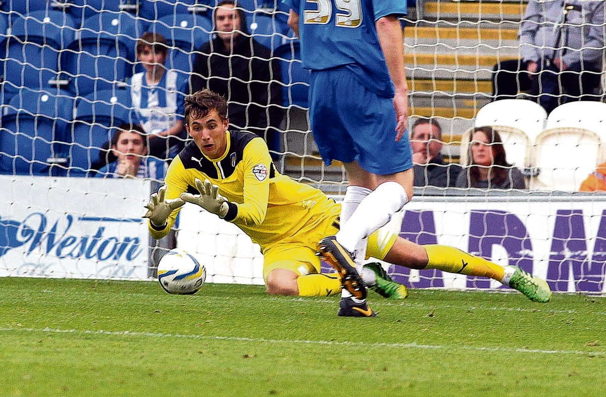 On the spot - Sam Walker saved a penalty in Colchester's defeat against Peterborough.