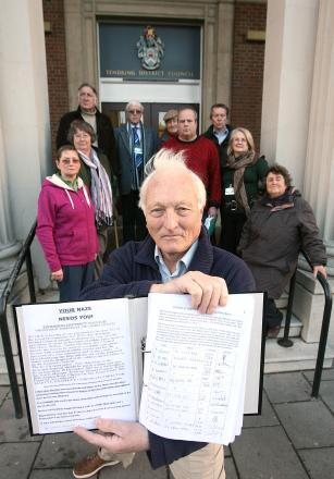David Evans with the Naze petition
