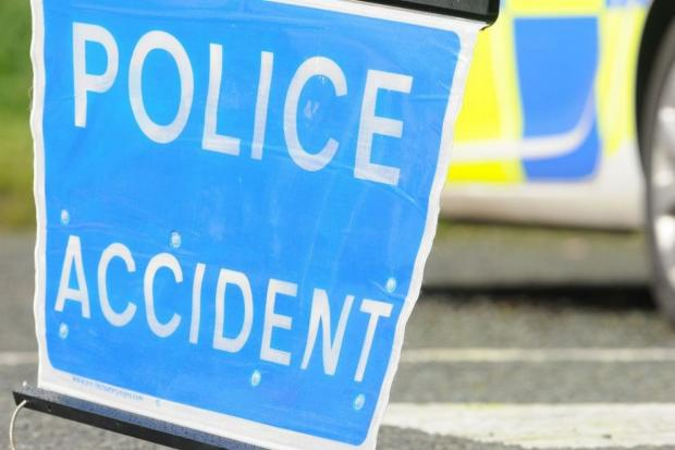 Two-car collision blocks A12 lane